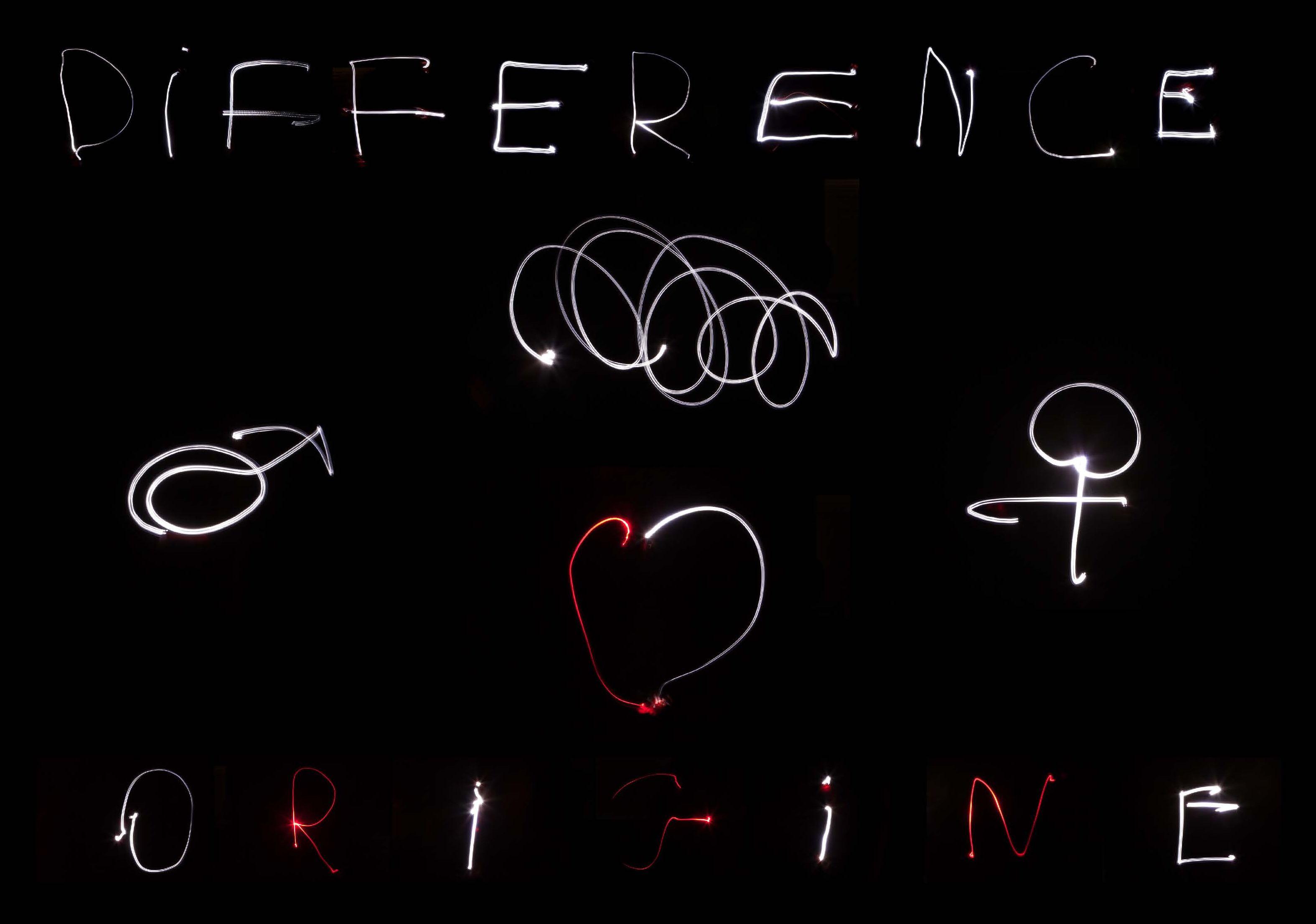 Light Painting réalisation ulis marsillargues thème différence